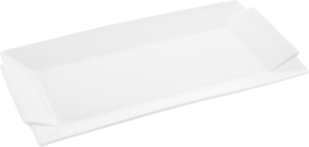 Блюдо Wilmax, 40 х 20 смWL-992648 / AПрямоугольное блюдо Wilmax, изготовленное из высококачественного фарфора, сочетает в себе изысканный дизайн с максимальной функциональностью. Оригинальное оформление придется по вкусу тем, кто предпочитает утонченность и изящность. Такое блюдо украсит сервировку вашего стола и подчеркнет прекрасный вкус хозяйки, а также станет отличным подарком.