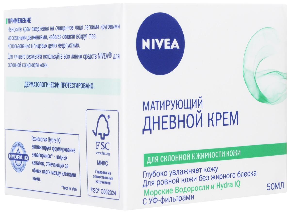 """Крем Nivea Visage """"Матовое совершенство"""", дневной, для жирной и склонной к жирности кожи, 50 мл ( 10022952 )"""
