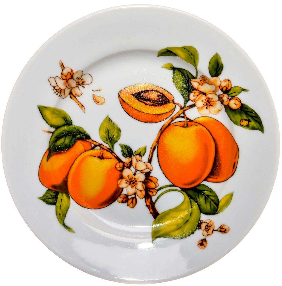 Тарелка десертная Дулевский фарфор Абрикосы, 20 смDU02470ABПосуду можно использовать в СВЧ и мыть в посудомоечных машинах. Не рекомендуется использовать абразивные моющие средства.