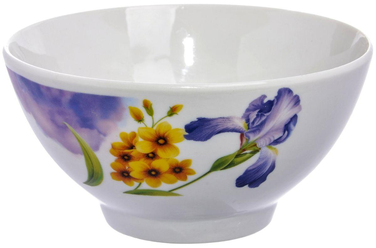 Салатница Дулевский фарфор Ирисы, 13 смDU02720IRПосуду можно использовать в СВЧ и мыть в посудомоечных машинах. Не рекомендуется использовать абразивные моющие средства.