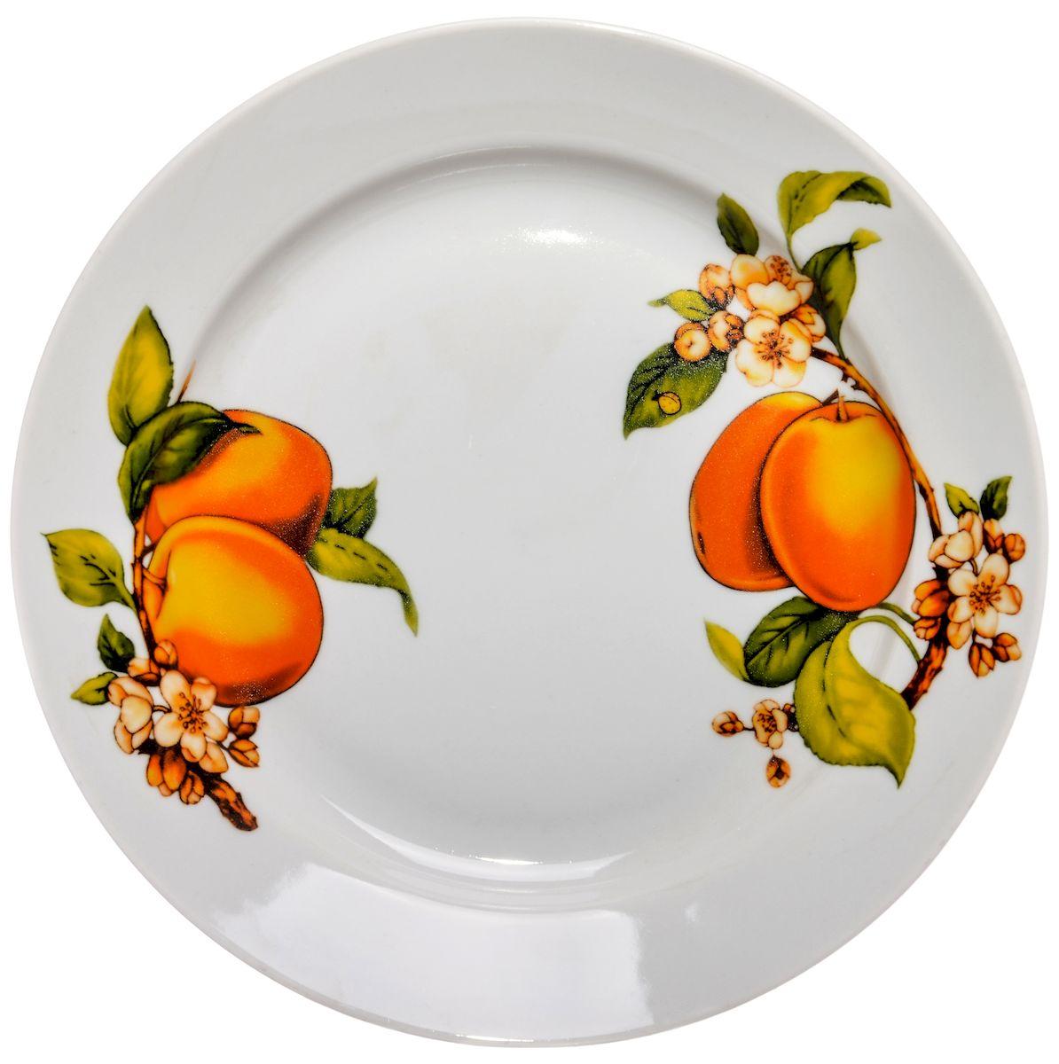 Тарелка для горячего Дулевский фарфор Абрикосы, 24 смDU03222ABПосуду можно использовать в СВЧ и мыть в посудомоечных машинах. Не рекомендуется использовать абразивные моющие средства.