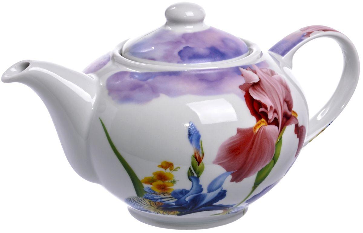 Чайник Дулевский фарфор Ирисы, 1100 млDU06511IRПосуду можно использовать в СВЧ и мыть в посудомоечных машинах. Не рекомендуется использовать абразивные моющие средства.