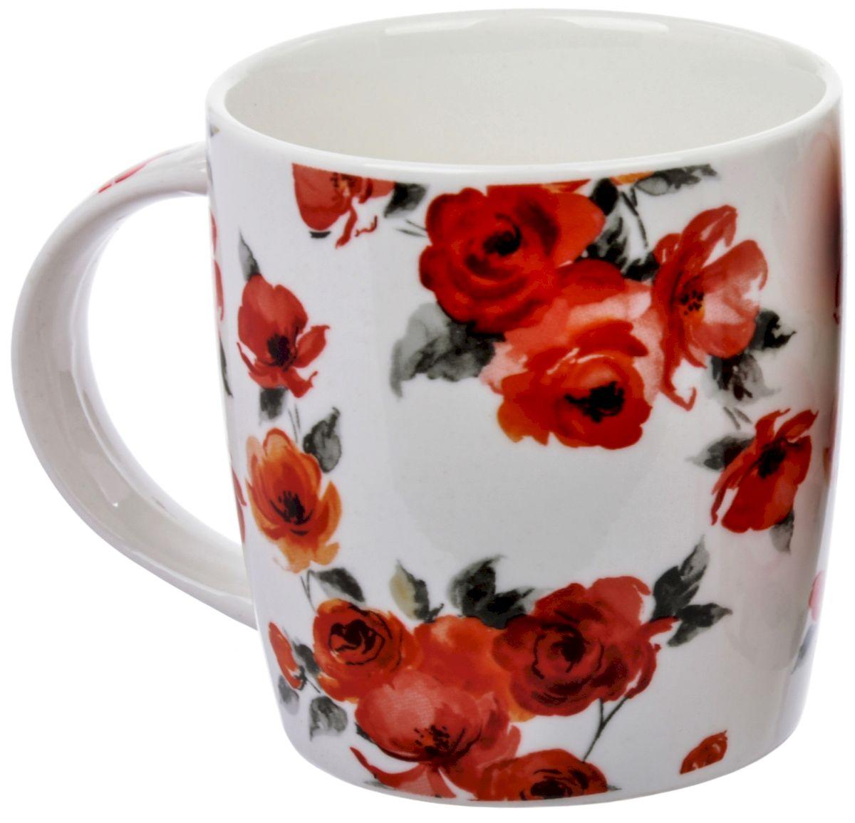 Кружка Liling Quanhu Роза, 355 млLQB35-H0328Благодаря стойким подглазурным деколям и безопасным краскам кружки LQ можно использовать в СВЧ и мыть в ПММ.