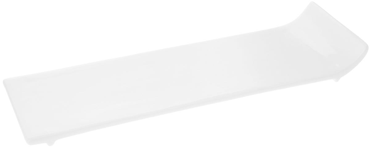 Блюдо Wilmax, 30,5 х 9,5 смWL-992621 / AОригинальное блюдо Wilmax, изготовленное из фарфора с глазурованным покрытием, прекрасно подойдет для подачи нарезок, закусок и других блюд. Оно украсит ваш кухонный стол, а также станет замечательным подарком к любому празднику. Можно мыть в посудомоечной машине и использовать в микроволновой печи. Размер блюда (по верхнему краю): 30,5 х 9,5 см.