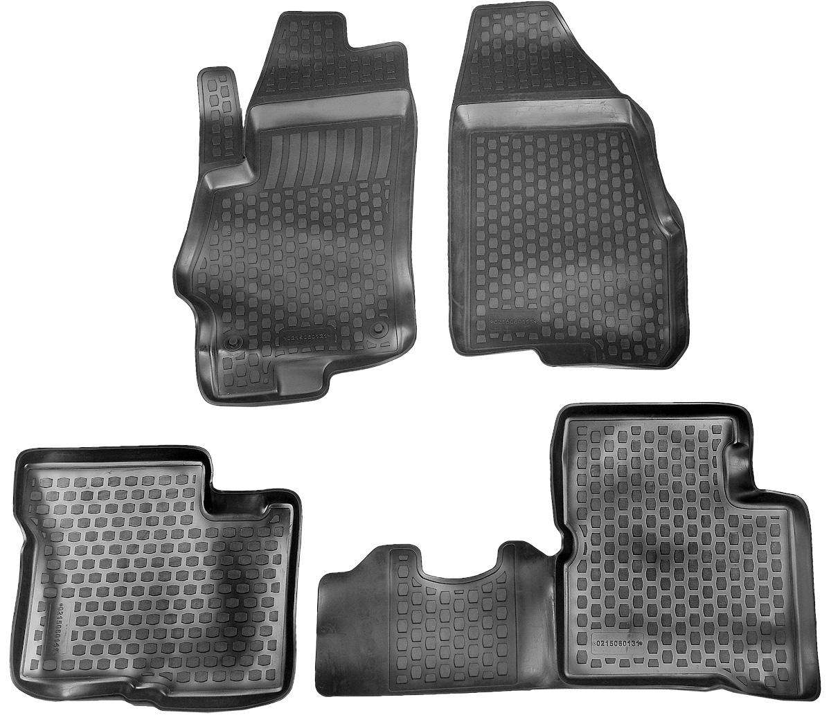 Коврик в салон автомобиля L.Locker, для SsangYong (13-), 4 шт0218060101Коврики L.Locker производятся индивидуально для каждой модели автомобиля из современного и экологически чистого материала. Изделия точно повторяют геометрию пола автомобиля, имеют высокий борт, обладают повышенной износоустойчивостью, антискользящими свойствами, лишены резкого запаха и сохраняют свои потребительские свойства в широком диапазоне температур (от -50°С до +80°С). Рисунок ковриков специально спроектирован для уменьшения скольжения ног водителя и имеет достаточную глубину, препятствующую свободному перемещению жидкости и грязи на поверхности. Одновременно с этим рисунок не создает дискомфорта при вождении автомобиля. Водительский ковер с предустановленными креплениями фиксируется на штатные места в полу салона автомобиля. Новая технология системы креплений герметична, не дает влаге и грязи проникать внутрь через крепеж на обшивку пола.