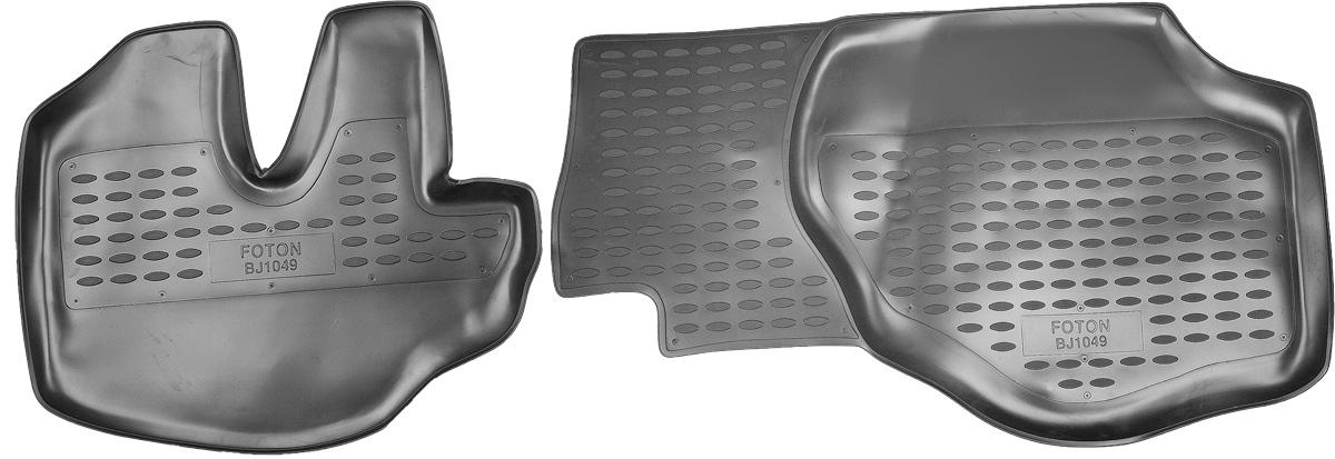 Коврики в салон автомобиля Novline-Autofamily, для Foton BJ1049 06/2007->, 2 штNLC.65.02.210Коврики в салон Novline-Autofamily не только улучшат внешний вид салона вашего автомобиля, но и надежно уберегут его от пыли, грязи и сырости, а значит, защитят кузов от коррозии. Полиуретановые коврики для автомобиля гладкие, приятные и не пропускают влагу. Автомобильные коврики в салон учитывают все особенности каждой модели и полностью повторяют контуры пола. Благодаря этому их не нужно будет подгибать или обрезать. И самое главное - они не будут мешать педалям. Полиуретановые автомобильные коврики для салона произведены из высококачественного материала, который держит форму и не пачкает обувь. К тому же, этот материал очень прочный (его, к примеру, не получится проткнуть каблуком). Некоторые автоковрики становятся источником неприятного запаха в автомобиле. С полиуретановыми ковриками Novline-Autofamily вы можете этого не бояться. Коврики для автомобилей надежно крепятся на полу и не скользят, что очень важно во время движения, особенно для водителя. ...