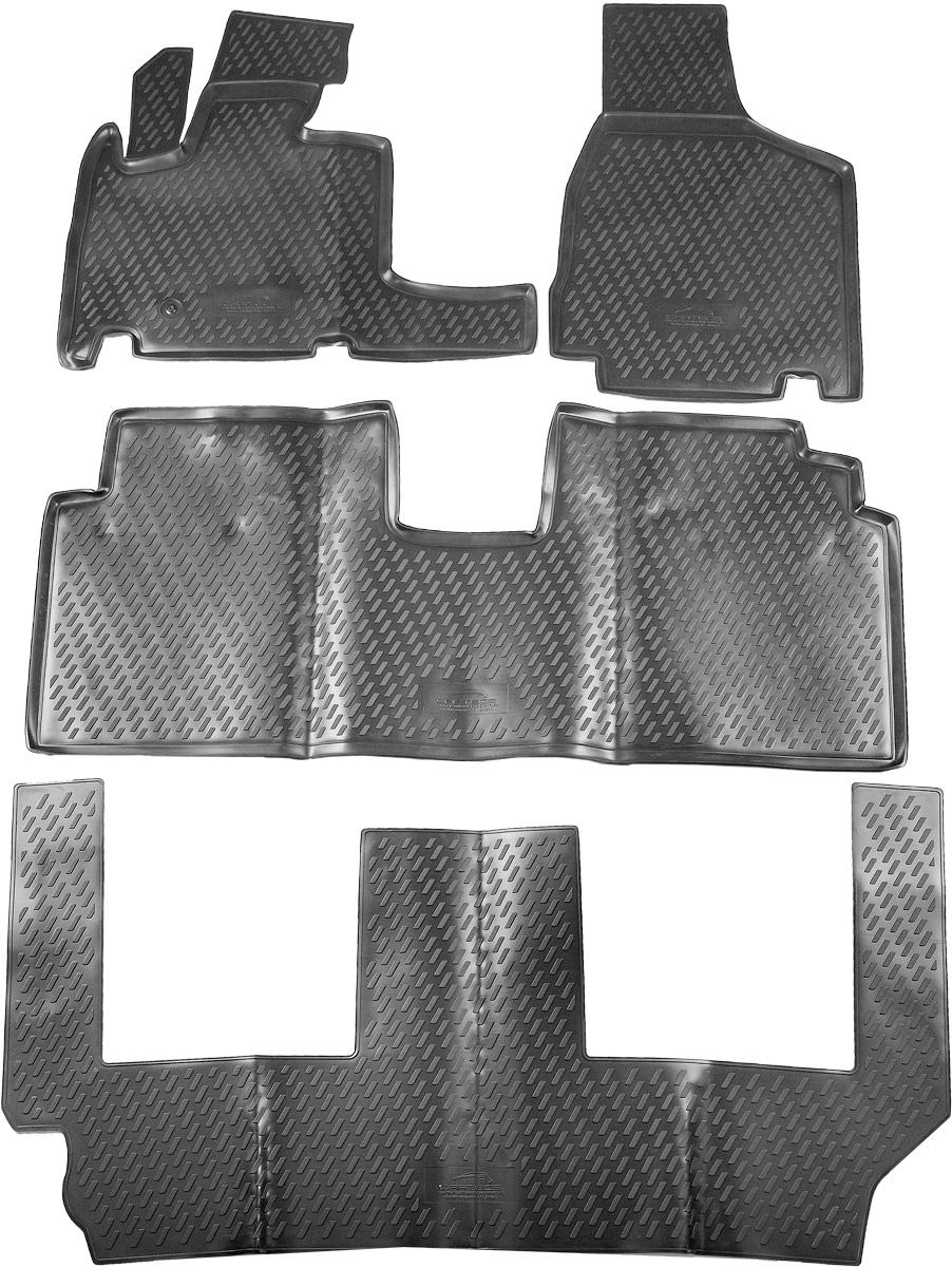 Коврики в салон автомобиля Novline-Autofamily, для Chrysler Grand Voyager RT 2008->, 4 штCARCHR00001Коврики в салон Novline-Autofamily не только улучшат внешний вид салона вашего автомобиля, но и надежно уберегут его от пыли, грязи и сырости, а значит, защитят кузов от коррозии. Полиуретановые коврики для автомобиля гладкие, приятные и не пропускают влагу. Автомобильные коврики в салон учитывают все особенности каждой модели и полностью повторяют контуры пола. Благодаря этому их не нужно будет подгибать или обрезать. И самое главное - они не будут мешать педалям. Полиуретановые автомобильные коврики для салона произведены из высококачественного материала, который держит форму и не пачкает обувь. К тому же, этот материал очень прочный (его, к примеру, не получится проткнуть каблуком). Некоторые автоковрики становятся источником неприятного запаха в автомобиле. С полиуретановыми ковриками Novline-Autofamily вы можете этого не бояться. Коврики для автомобилей надежно крепятся на полу и не скользят, что очень важно во время движения, особенно для водителя. ...