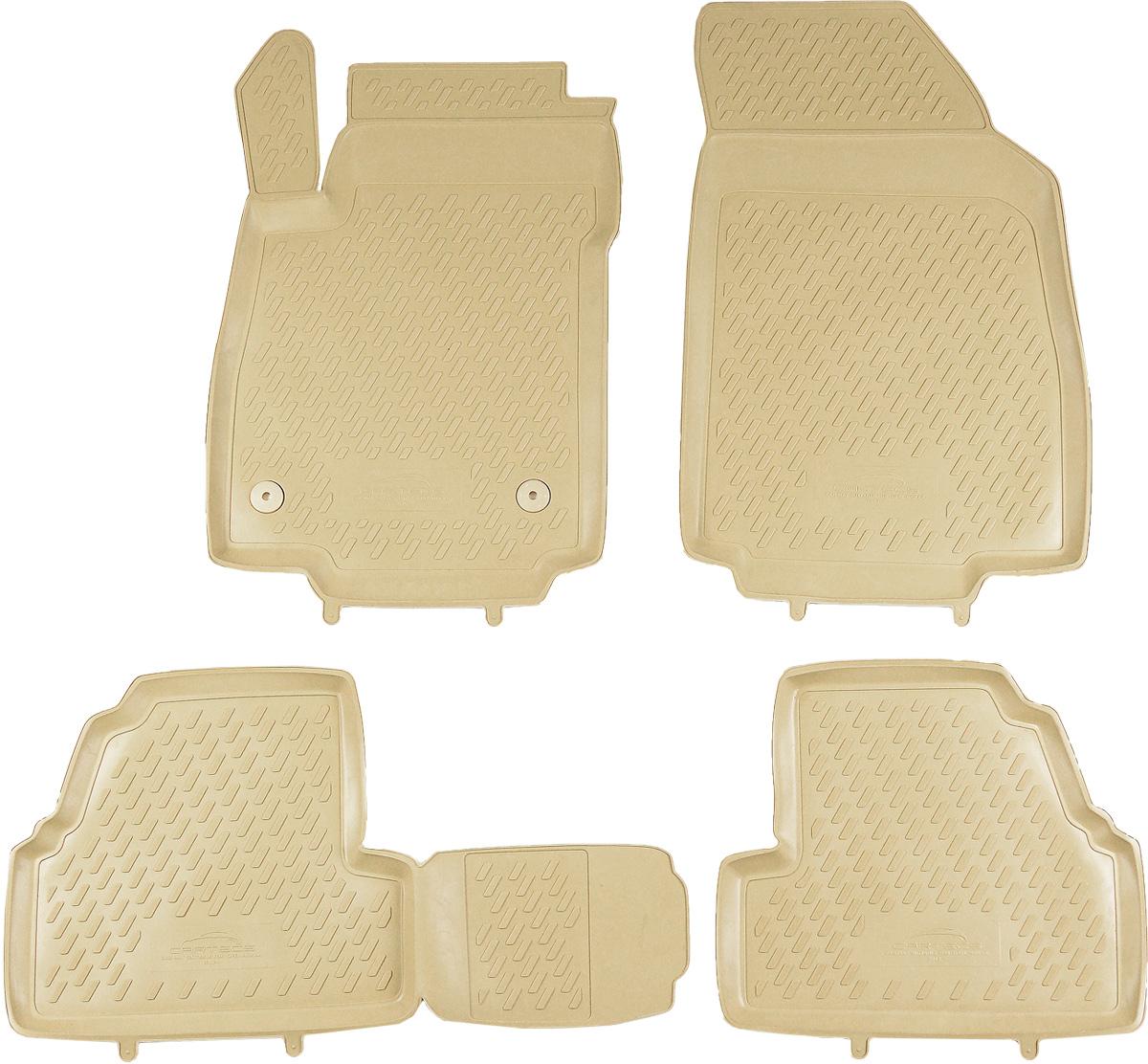 Коврики в салон автомобиля Novline-Autofamily, для Opel Mokka 2012->, 4 штCAROPL00029kbКоврики в салон Novline-Autofamily не только улучшат внешний вид салона вашего автомобиля, но и надежно уберегут его от пыли, грязи и сырости, а значит, защитят кузов от коррозии. Полиуретановые коврики для автомобиля гладкие, приятные и не пропускают влагу. Автомобильные коврики в салон учитывают все особенности каждой модели и полностью повторяют контуры пола. Благодаря этому их не нужно будет подгибать или обрезать. И самое главное - они не будут мешать педалям. Полиуретановые автомобильные коврики для салона произведены из высококачественного материала, который держит форму и не пачкает обувь. К тому же, этот материал очень прочный (его, к примеру, не получится проткнуть каблуком). Некоторые автоковрики становятся источником неприятного запаха в автомобиле. С полиуретановыми ковриками Novline-Autofamily вы можете этого не бояться. Коврики для автомобилей надежно крепятся на полу и не скользят, что очень важно во время движения, особенно для водителя. ...