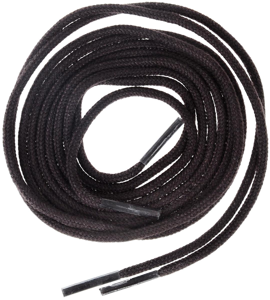 Шнурки тонкие Collonil Rund, цвет: темно-коричневый, длина 75 см4303 696Тонкие шнурки Collonil Rund изготовлены из 75% хлопка и 25% полиамида. Крепкие и удобные шнурки являются неотъемлемым аксессуаром и подходят для ношения модельной или предназначенной для отдыха и туризма обуви. Подходят для обуви с восемью отверстиями.