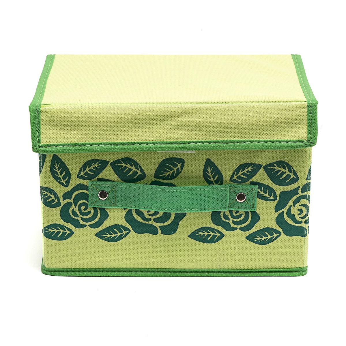 Коробка для хранения Homsu Green Flower, 19 х 25 х 16 смHOM-383Вместительная коробка для хранения Homsu Green Flower выполнена из плотного картона. Изделие обладает удобным размером и привлекательным дизайном, выполненным в приятной цветовой гамме. Внутри коробки можно хранить фотографии, ткани, принадлежности для хобби, памятные сувениры и многое другое. Крышка изделия удобно открывается и закрывается. Коробка для хранения Homsu Green Flower станет незаменимой помощницей в путешествиях.