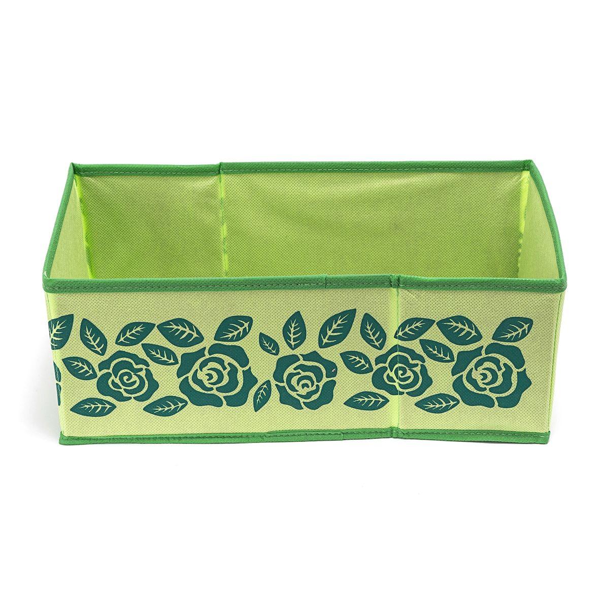 Ящик с ручкой Homsu Green Flower, 37х20х14 смHOM-385Универсальная коробочка для хранения любых вещей. Оптимальный размер позволяет хранить в ней любые вещи и предметы. Имеет жесткие борта, что является гарантией сохраности вещей. Имеет ручку для переноски. Фактический цвет может отличаться от заявленного. Размер изделия: 37x20x14см