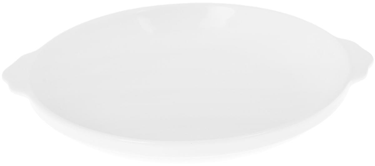 Блюдо Wilmax, диаметр 20,5 смWL-997003 / AОригинальное блюдо Wilmax, изготовленное из высококачественного фарфора, оснащено двумя удобными ручками. Изделие прекрасно подойдет для порционной подачи нарезок, закусок и других блюд. Блюдо Wilmax украсит ваш кухонный стол, а также станет замечательным подарком к любому празднику. Можно мыть в посудомоечной машине и использовать в микроволновой печи. Ширина блюда (с учетом ручек): 23 см. Диаметр блюда (по верхнему краю): 20,5 см. Высота блюда: 3,5 см.