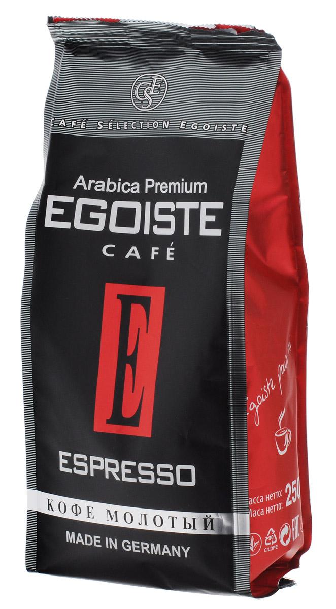 Egoiste Espresso кофе молотый, 250 г4260283250172Венская обжарка придает кофе Egoiste Espresso глубокий, насыщенный вкус настоящего итальянского эспрессо. Кофе с самым богатым ароматом, рекомендующийся для приготовления в кофеварке или кофе-машине.