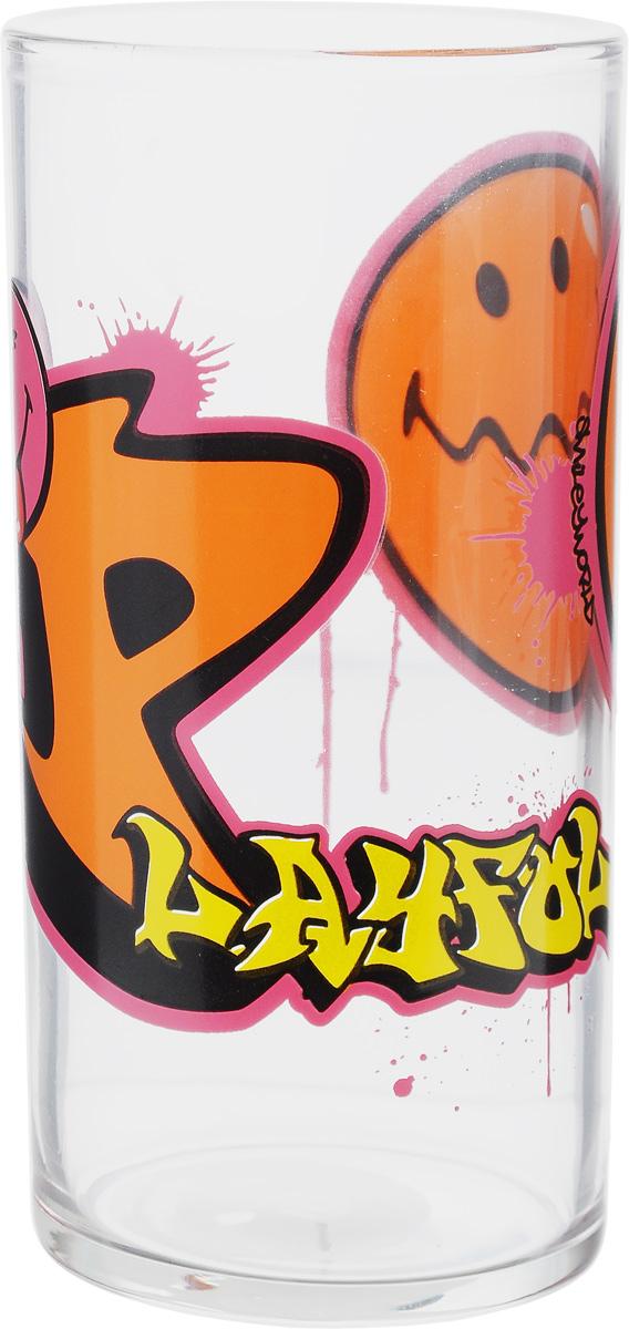Стакан Luminarc Smiley World Graffiti, 270 млJ1004Стакан Luminarc Smiley World Graffiti изготовлен из высококачественного стекла. Такой стакан прекрасно подойдет для различных напитков. Он дополнит коллекцию вашей кухонной посуды и будет служить долгие годы. Можно использовать в посудомоечной машине и СВЧ. Диаметр стакана (по верхнему краю): 6 см. Высота: 12 см.