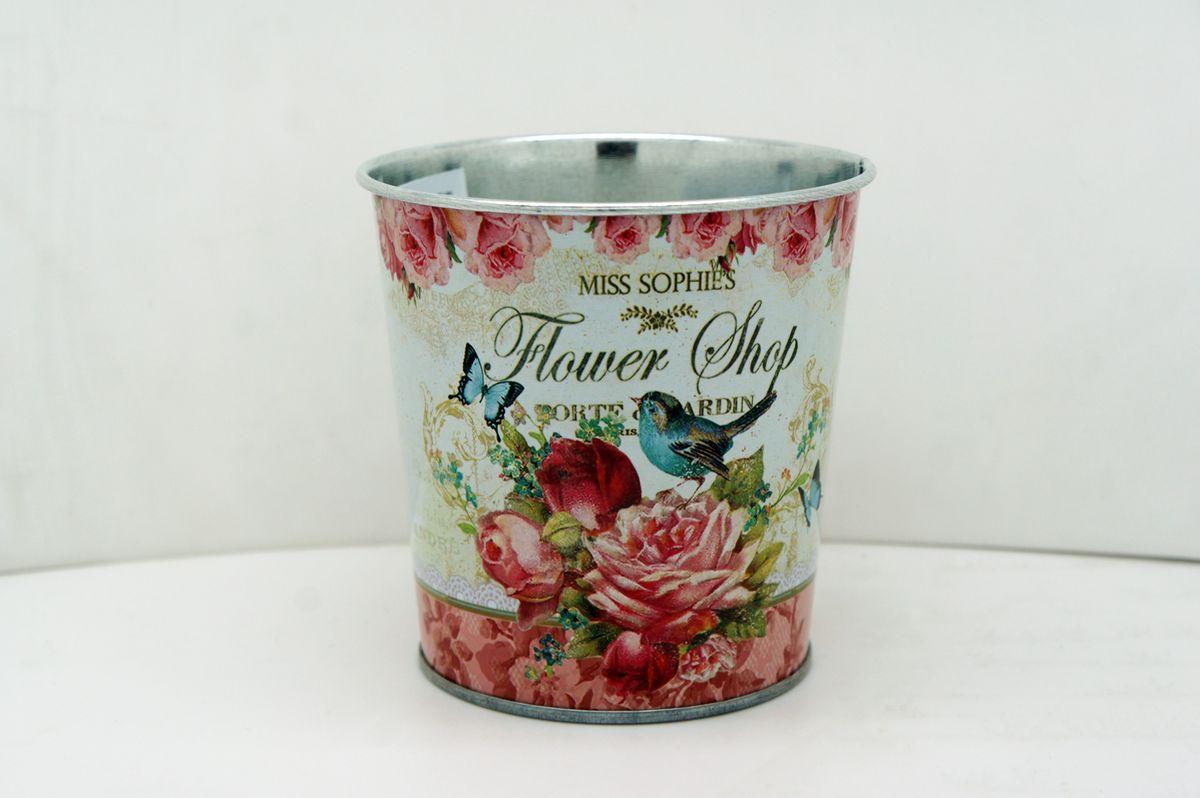 "Кашпо-ведерко Gift'n'Home ""Розы"", 800 мл"