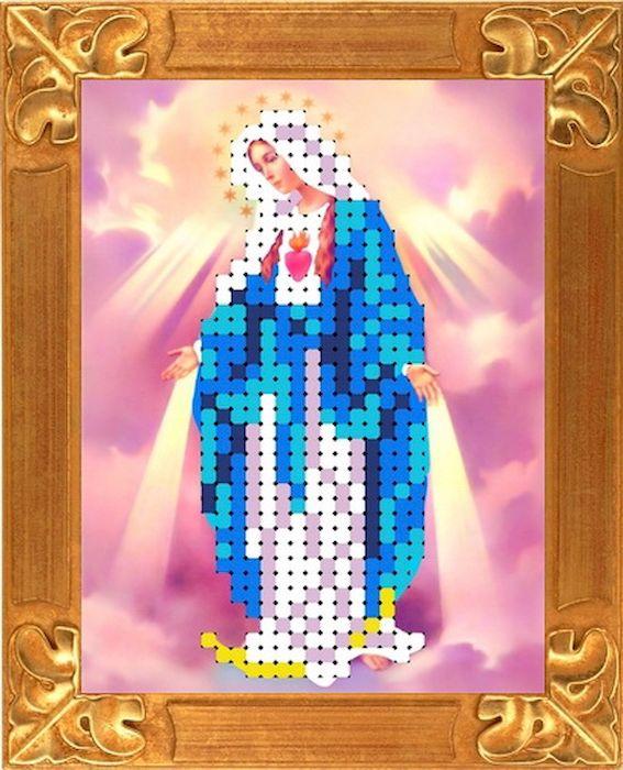 Ткань схема для вышивки бисером или крестом Каролинка Дева Мария Непорочного Зачатия, 6,5х8,7 см. кби 6031кби 6031Рисунок схема для вышивки бисером и крестом на габардине,дублированном флизилином.На основе для вышивки предлагается вышивать тремя техниками /бисером,крестом,смешанной/.Дана раскладка в граммах и номерах бисера Чехия,метрах и номерах мулине Гамма.