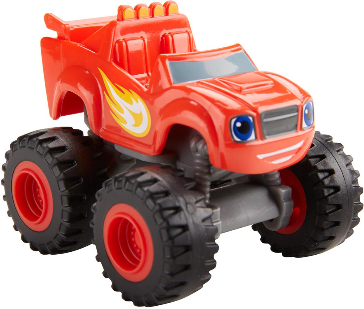 Blaze Машинка Вспыш DKV83DKV81_DKV83Машинка Blaze Вспыш выполнена из пластика с металлическими элементами, оснащена подвижными колесами и свободно катается по любой поверхности. Игрушка в точности повторяет внешний вид главного героя из мультсериала Вспыш и чудо-машинки. Вспыш - отважный и очень скоростной пикап красного цвета. Его борта украшает полыхающее пламя, символизирующее бешеное неудержимое движение! И неспроста - ведь Вспыш неизменно побеждает в гонках по трассам Аксель-Сити и по праву считается самым быстрым автомобилем в городе. Вспыш отлично разбирается в точных науках, что также помогает справляться с различными трудностями на пути к победе. Кроме того, красный пикап является единственным автомобилем в Аксель-Сити, которым управляет человек - верный друг Вспыша - мальчик по имени Эй-Джей. Для этой неразлучной пары не существует непреодолимых препятствий и нерешаемых задач!