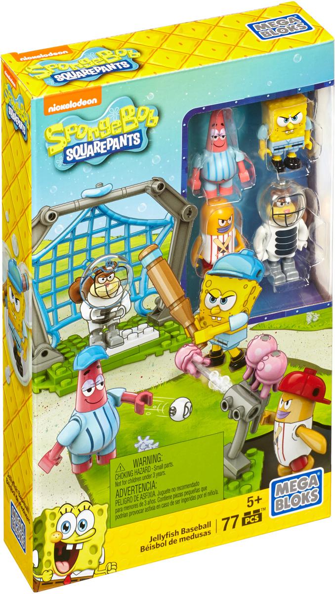 Mega Bloks Губка Боб Конструктор Бейсбол с медузамиDLB16_DLB17Поклонники Губки Боба смогут сыграть в бейсбол медузой или же отправиться в рейды по семи морям, собрав наборы с любимыми персонажами: Губкой Бобом, Патриком, Сэнди и мистером Крабсом - в костюмах бейсболистов или пиратов. В каждом наборе вы найдете четыре или пять фигурок с аксессуарами, а также особый предмет с подвижными деталями, например, пиратский плот с доской, метатель медуз или кабину для тренировок по бейсболу, способную изменяться в размерах. Конструктор Mega Bloks Губка Боб. Бейсбол с медузами включает в себя 77 разноцветных пластиковых элементов. Конструктор - это один из самых увлекательных и веселых способов времяпрепровождения. Ребенок сможет часами играть с конструктором, придумывая различные ситуации и истории.