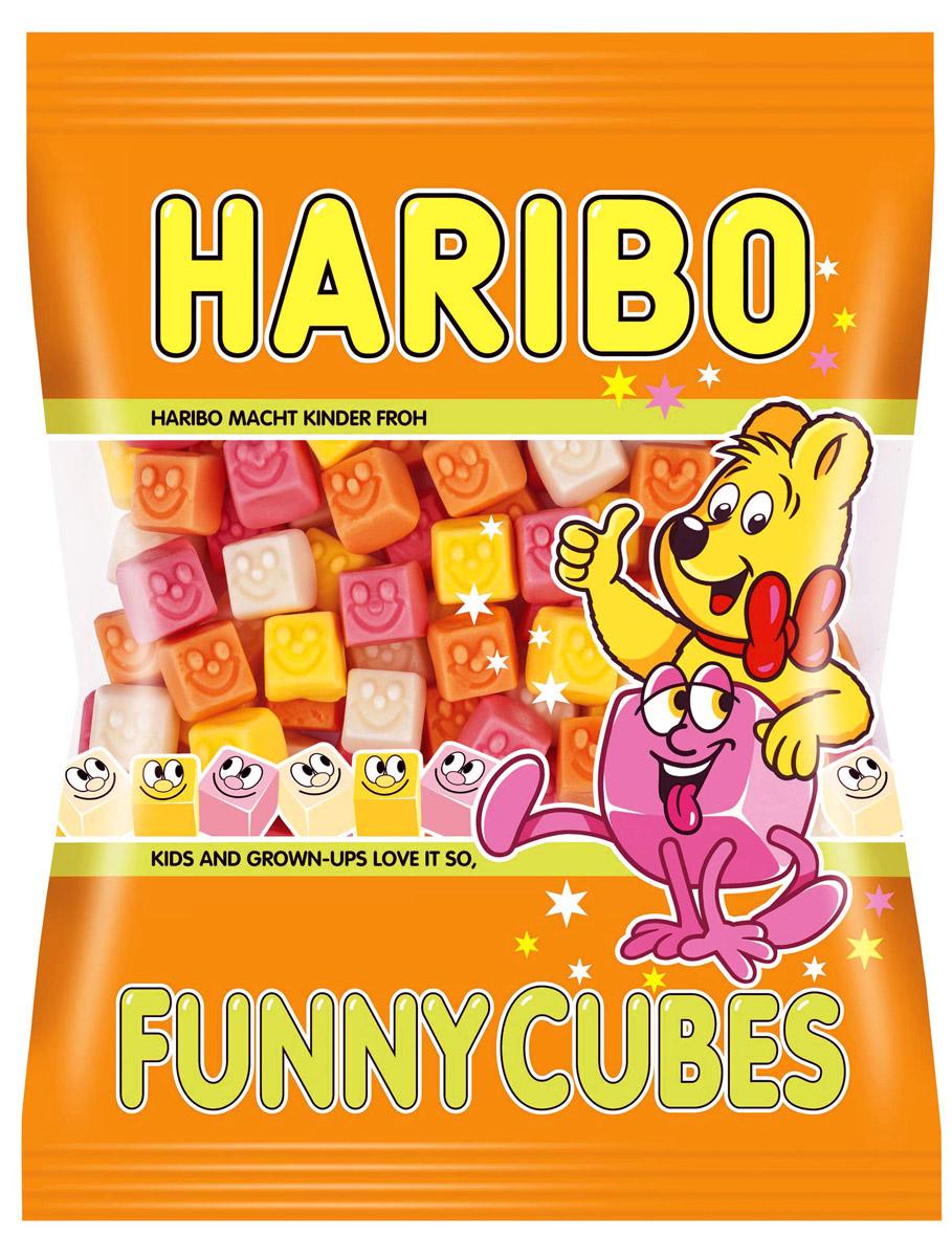 Haribo Кубики-смешинки жевательный мармелад, 100 г 26864