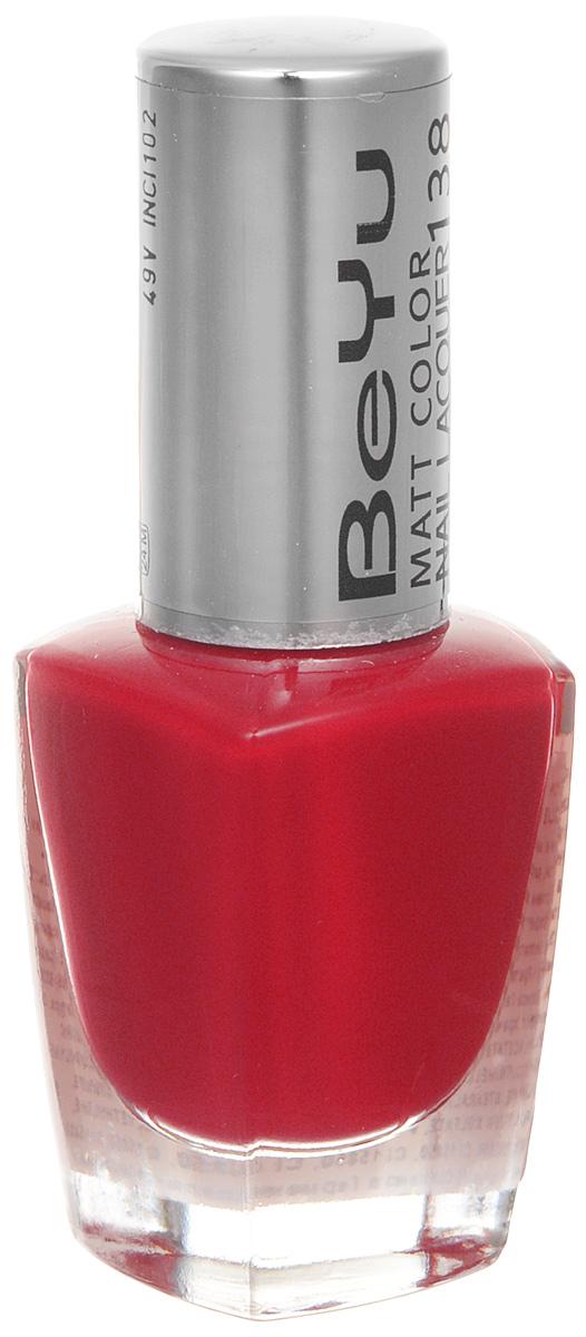 BeYu Лак для ногтей с матовым эффектом Matt Color Nail Lacquer 138 9 мл3116.138Новый лак для ногтей с модным матовым финишем! Идеально матовое покрытие и насыщенные оттенки.