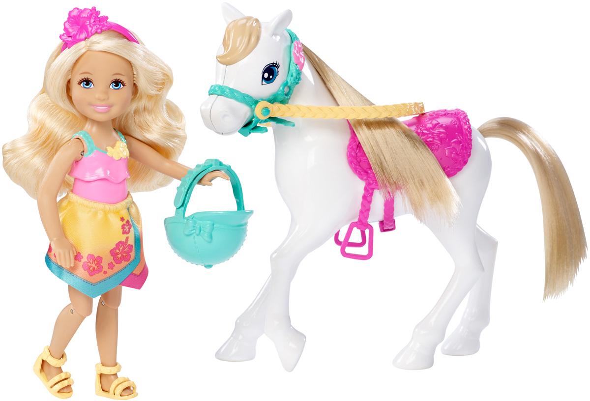 Barbie Игровой набор с мини-куклой Челси и пониDLY34Вперед к приключениям вместе с Челси и ее белым пони! Помните финальный танец из фильма Barbie и сестры: охота за щенками? Действие фильма происходит на острове, и наши героини одеты соответственно: в яркие костюмы с цветочными деталями. Воспроизведите любимые сцены фильма или отправляйте в новые путешествия. В игровой набор Barbie Челси и пони входят: кукла Челси со шлемом, а также белый пони. Куклы, пожалуй, самые популярные игрушки в мире. Девочки обожают играть с ними, отправляясь в сказочную страну грез. Порадуйте свою малышку таким великолепным подарком!