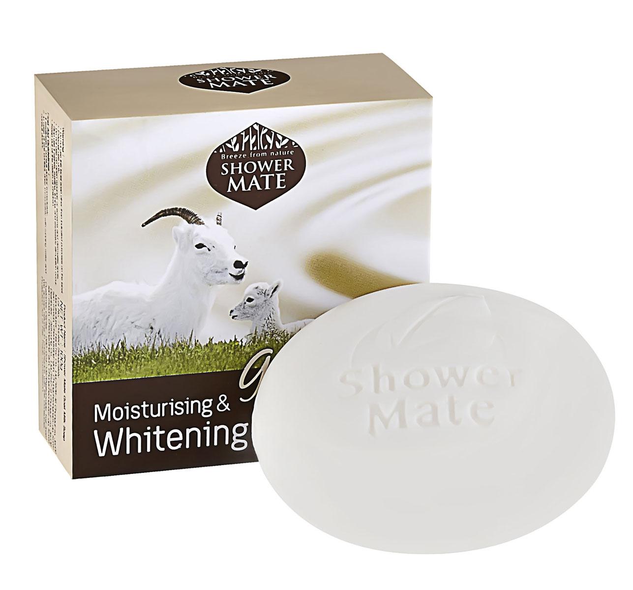 Shower Mate Мыло косметическое Увлажняющий с козьим молоком, 100г8801046255636Очищающие компоненты мягкого действия в сочетании с богатым протеинами и витамином В козьим молоком бережно ухаживают за кожей, смягчают, разглаживают и выравнивают тон. Также содержит арбутин и витамин Е. Сладко-молочный аромат.