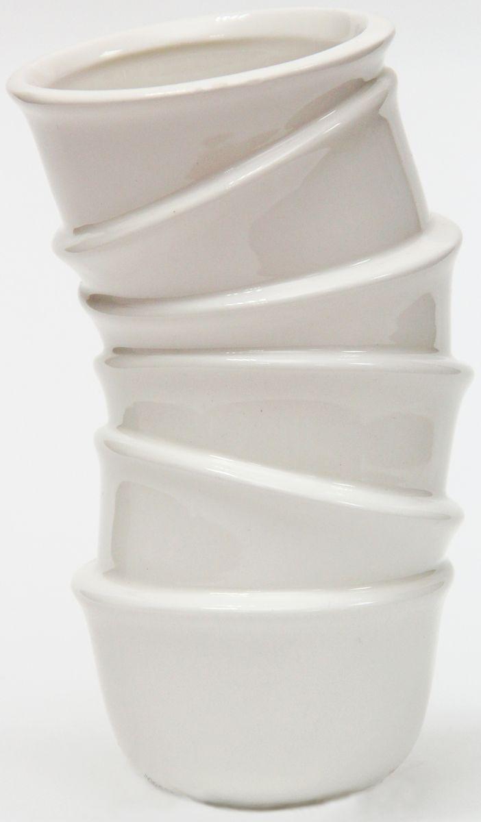 Ваза декоративная Magic Home, цвет: белый, 9,1 х 8,2 х 15,4 см36625Декоративная ваза Magic Home станет не только отличным подарком, но и практичным украшением интерьера.