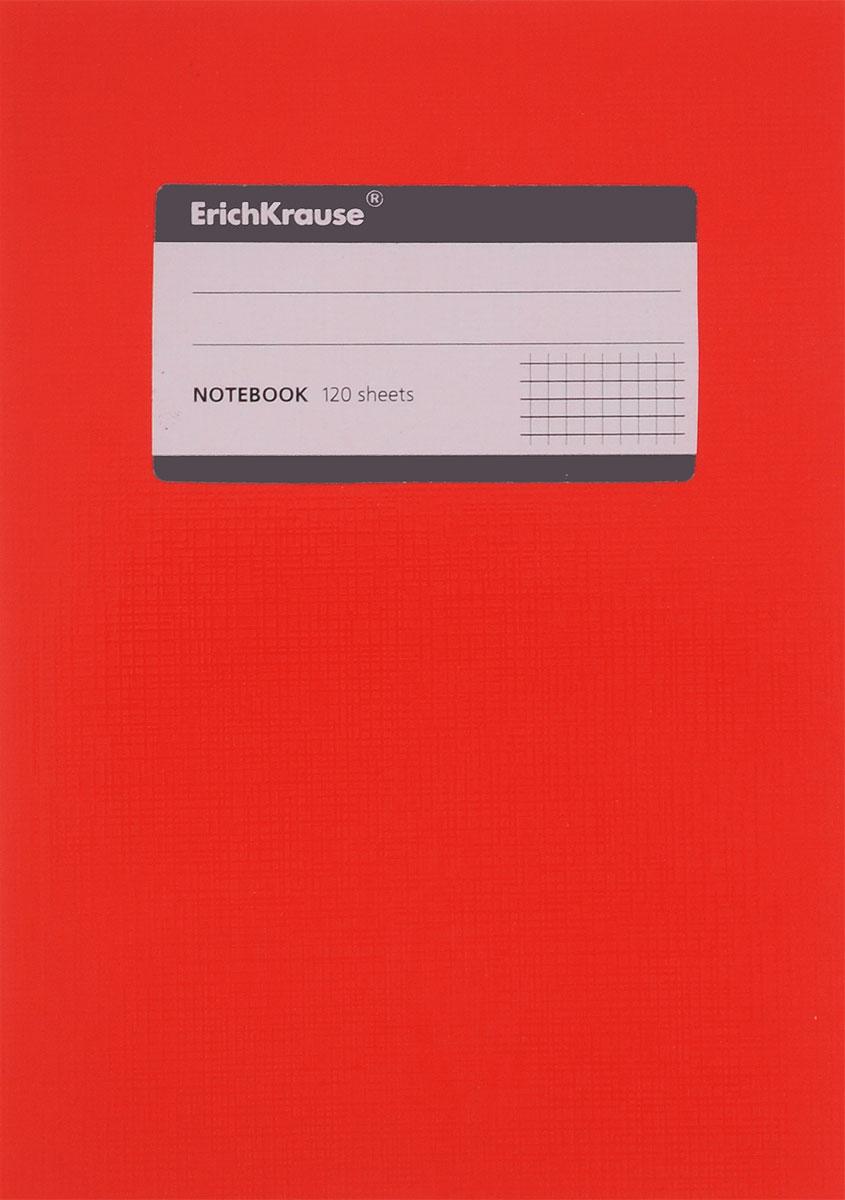 Erich Krause Тетрадь One Color 120 листов в клетку цвет красный