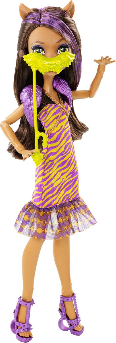 Monster High Кукла Клодин Вульф Буникальные танцыDNX18_DNX19Ночь - любимое время монстров, и эти ученики школы монстров готовы оторваться на танцевальной вечеринке. Веселье начинается с убийственного наряда! Клодин Вульф - дочь Оборотня. Девочка со смуглой кожей, волчьими ушками, клыками и прекрасными темными волосами одета в стильное платье с полосатым принтом. На ногах - изящные босоножки на высоких каблуках. Завершают яркий образ зловещей модницы сиреневая накидка из пластика и маска на палочке. Шикарные длинные волосы куклы можно расчесывать. Вашей малышке понравится воссоздавать сцены или разыгрывать с куклой сюжеты собственных историй. Руки, ноги и колени у куклы шарнирные, это позволяет придать разнообразные позы. Порадуйте поклонницу Монстер Хай удивительной новинкой в мире Школы Монстров, подарив ей эту замечательную куколку.