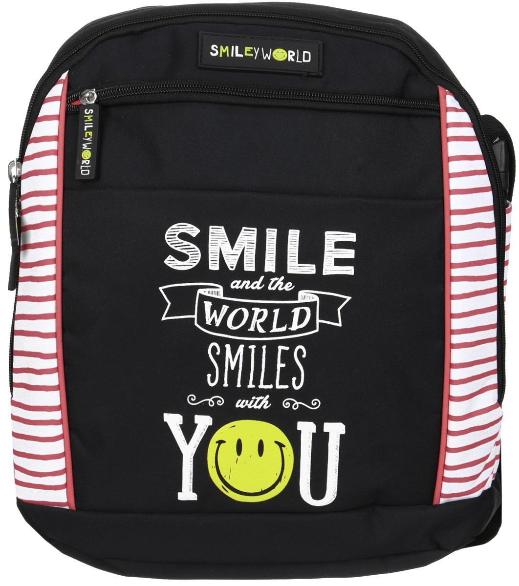 Proff Рюкзак детский Smiley GirlSG16-BP-10Детский рюкзак Proff Smiley Girl сочетает в себе современный дизайн, функциональность и долговечность. Изделие выполнено из прочных материалов и дополнено изображением в виде смайлика. Рюкзак состоит из вместительного отделения, закрывающегося на застежку-молнию с двумя бегунками. Внутри отделения имеется небольшой кармашек на молнии. На лицевой стороне расположен прорезной карман на застежке-молнии. Широкие мягкие лямки рюкзака регулируются по длине. На тыльной стороне изделия предусмотрен карман на липучке, чтобы убирать плечевые лямки. Рюкзак оснащен регулируемым по длине текстильным ремнем для переноски на плече и удобной ручкой для переноски в руке. Текстильный ремень также можно убирать в специальные наружные отделения по бокам сумки. Такую модель рюкзака- сумки можно использовать для повседневных прогулок, отдыха и спорта, а также как элемент вашего имиджа.