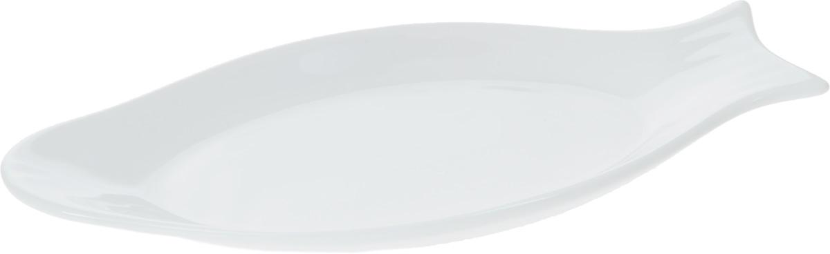 Блюдо Wilmax Рыбка, 22 х 10,6 смWL-992006 / AОригинальное блюдо Wilmax Рыбка, изготовленное из фарфора с глазурованным покрытием, прекрасно подойдет для подачи нарезок, закусок и других блюд. Оно украсит ваш кухонный стол, а также станет замечательным подарком к любому празднику. Размер блюда: 22 х 10,6 см.
