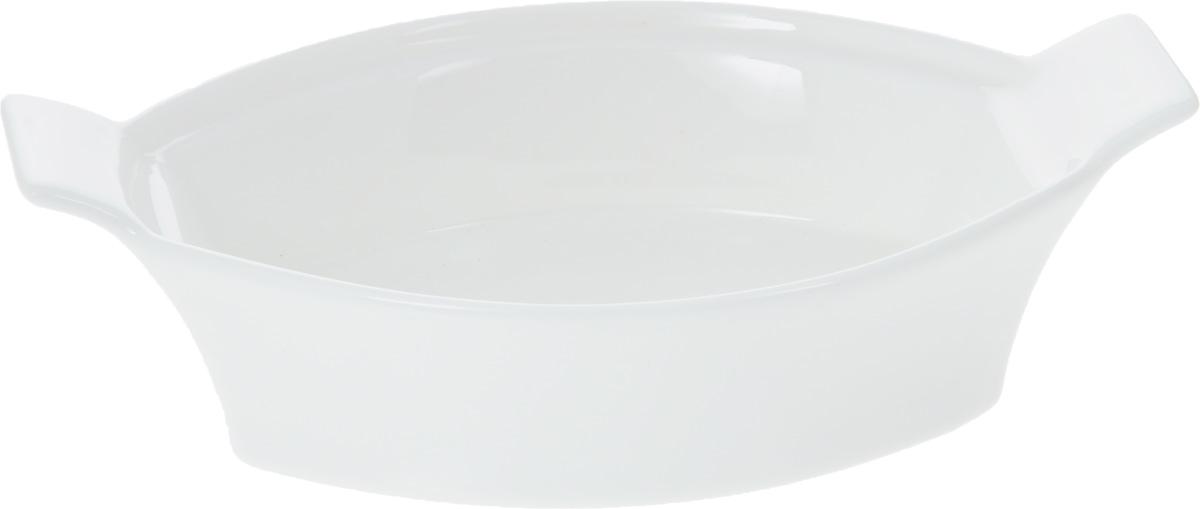 Форма для запекания Wilmax, овальная, 22 х 14 смWL-997009 / AНи для кого не секрет, что у настоящей хозяйки красивая посуда не только та, в которой она подает свои блюда, но и та, в которой она готовит. Овальная форма для запекания Wilmax выполнена из высококачественного фарфора и оснащена ручками для удобной переноски. Приятный глазу дизайн и отменное качество формы будут долго радовать вас. Внешний размер формы: 22 х 14 см. Внутренний размер формы: 16,5 х 13,3 см. Высота формы: 5,7 см.