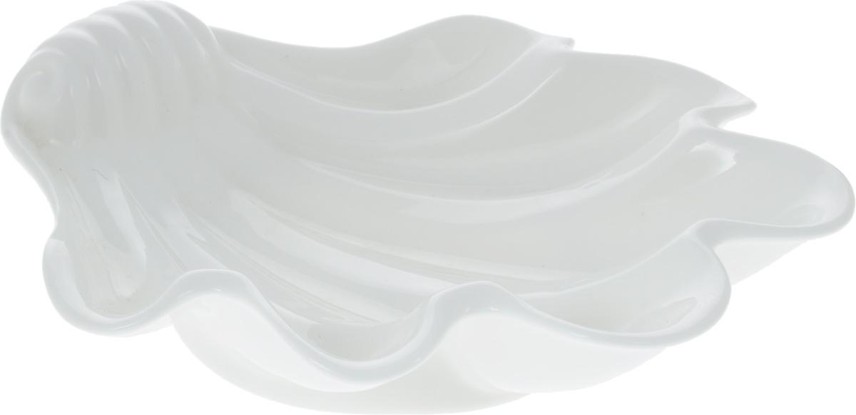 Блюдо Wilmax Ракушка, 23,5 х 22 смWL-992587 / AОригинальное блюдо Wilmax Ракушка, изготовленное из фарфора с глазурованным покрытием, прекрасно подойдет для подачи нарезок, закусок и других блюд. Оно украсит ваш кухонный стол, а также станет замечательным подарком к любому празднику. Размер блюда: 23,5 х 22 см.