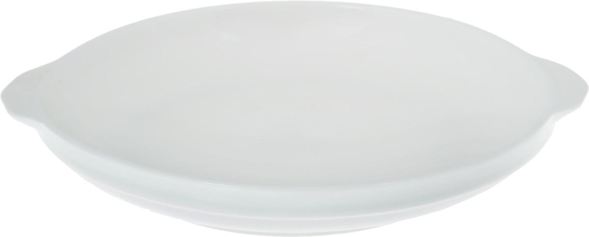 Форма для запекания Wilmax, порционная, диаметр 18 смWL-997002 / AФорма для запекания Wilmax выполнена из белого фарфора высокого качества с глазурованным покрытием и оснащена небольшими ручками. Фарфор от Wilmax изготовлен по уникальному рецепту из сплава магния и алюминия, благодаря чему посуда обладает характерной белизной, прочностью и устойчивостью к сколами. Особый состав глазури обеспечивает гладкость и блеск поверхности изделия. Приятный глазу дизайн и отменное качество формы будут долго радовать вас. Можно мыть в посудомоечной машине и использовать в микроволновой печи. Форма пригодна для использования в духовых печах и выдерживает температуру до 300°С. Размер формы (без учета ручек): 18 х 18 х 3 см. Ширина формы (с учетом ручек): 20,7 см.