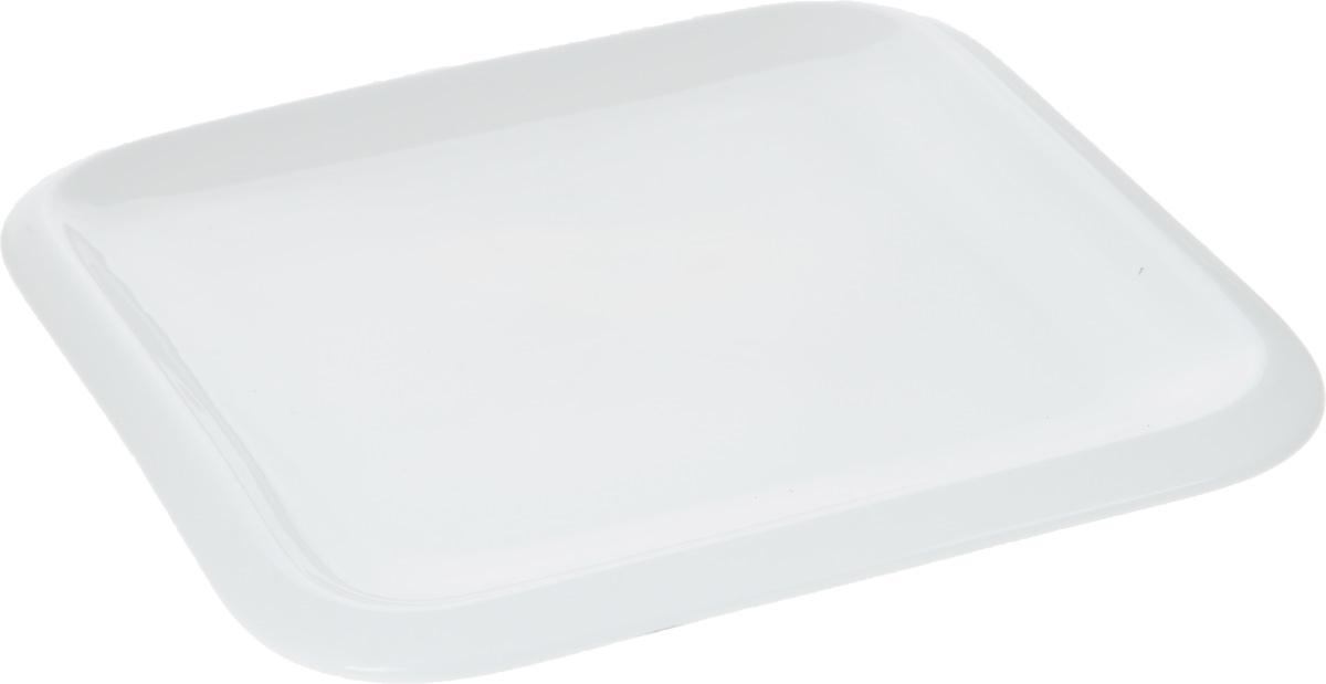 Тарелка Wilmax, 20 х 20 смWL-991227 / AОригинальная квадратная тарелка Wilmax изготовлена из фарфора с глазурованным покрытием. Фарфор от Wilmax изготовлен по уникальному рецепту из сплава магния и алюминия, благодаря чему посуда обладает характерной белизной, прочностью и устойчивостью к сколами. Особый состав глазури обеспечивает гладкость и блеск поверхности изделия. Изделие сочетает в себе изысканный дизайн с максимальной функциональностью. Тарелка прекрасно впишется в интерьер вашей кухни и станет достойным дополнением к кухонному инвентарю. Можно мыть в посудомоечной машине и использовать в микроволновой печи. Изделие пригодно для использования в духовых печах и выдерживает температуру до 300°С.
