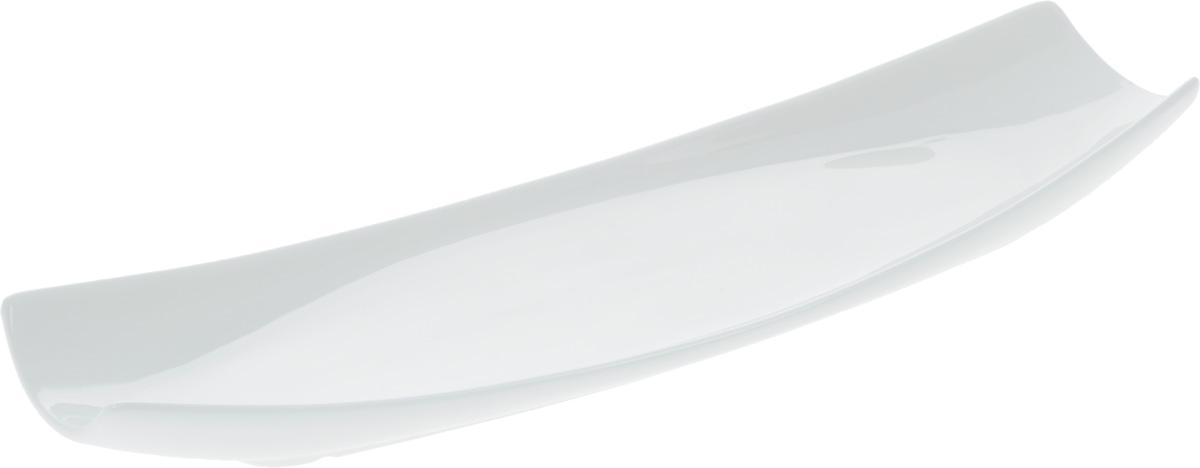 Блюдо Wilmax, 30 х 10 смWL-992622 / AОригинальное прямоугольное блюдо Wilmax, изготовленное из фарфора с глазурованным покрытием, прекрасно подойдет для подачи нарезок, закусок и других блюд. Фарфор от Wilmax изготовлен по уникальному рецепту из сплава магния и алюминия, благодаря чему посуда обладает характерной белизной, прочностью и устойчивостью к сколами. Особый состав глазури обеспечивает гладкость и блеск поверхности изделия. Блюдо украсит ваш кухонный стол, а также станет замечательным подарком к любому празднику. Можно мыть в посудомоечной машине и использовать в микроволновой печи. Изделие пригодно для использования в духовых печах и выдерживает температуру до 300°С.