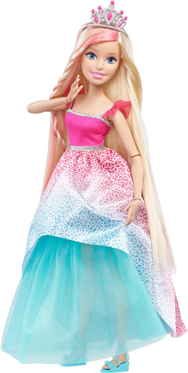 Barbie Кукла Роскошные волосы цвет платья розовый бирюзовыйDRJ31_DKR09Сколько радости может доставить кукла высотой более 40 сантиметров, с невероятно длинными, ярко окрашенными волосами? Восхитительное платье, невероятные аксессуары для волос - все это вдохновляет на увлекательные эксперименты со всевозможными прическами. В комплект входят кукла и множество аксессуаров. Куклы, пожалуй, самые популярные игрушки в мире. Девочки обожают играть с ними, отправляясь в сказочную страну грез. Порадуйте свою малышку таким великолепным подарком!