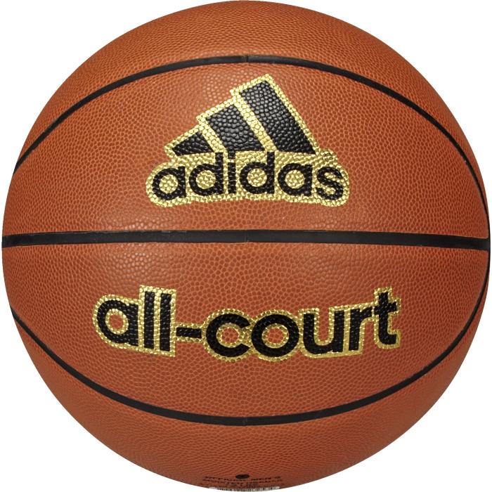 Мяч баскетбольный Adidas All court, цвет: оранжевый. X35859