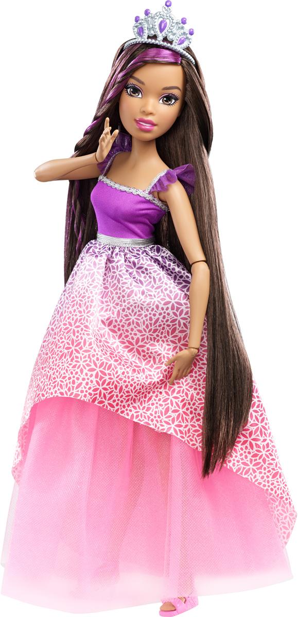 Barbie Кукла Роскошные волосы цвет платья фиолетовый розовыйDRJ31_DPK21Сколько радости может доставить кукла высотой более 40 сантиметров, с невероятно длинными, ярко окрашенными волосами? Восхитительное платье, невероятные аксессуары для волос - все это вдохновляет на увлекательные эксперименты со всевозможными прическами. В комплект входит кукла со множеством аксессуаров. Куклы, пожалуй, самые популярные игрушки в мире. Девочки обожают играть с ними, отправляясь в сказочную страну грез. Порадуйте свою малышку таким великолепным подарком!