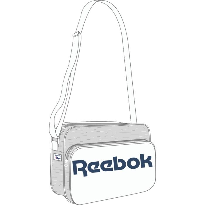 Сумка городская Reebok Cl Royal Shoulder, цвет: белый. AX9946AX9946Сумка Reebok Classics Согласитесь, эта сумка выглядит просто великолепно ? прочные материалы, классический дизайн и объемный логотип Reebok. Благодаря классическому дизайну она вместит в себя все необходимое Двойная ручка для удобного ношения в руке Тканый принт в виде флага и логотип Reebok эффектно дополнят твой образ