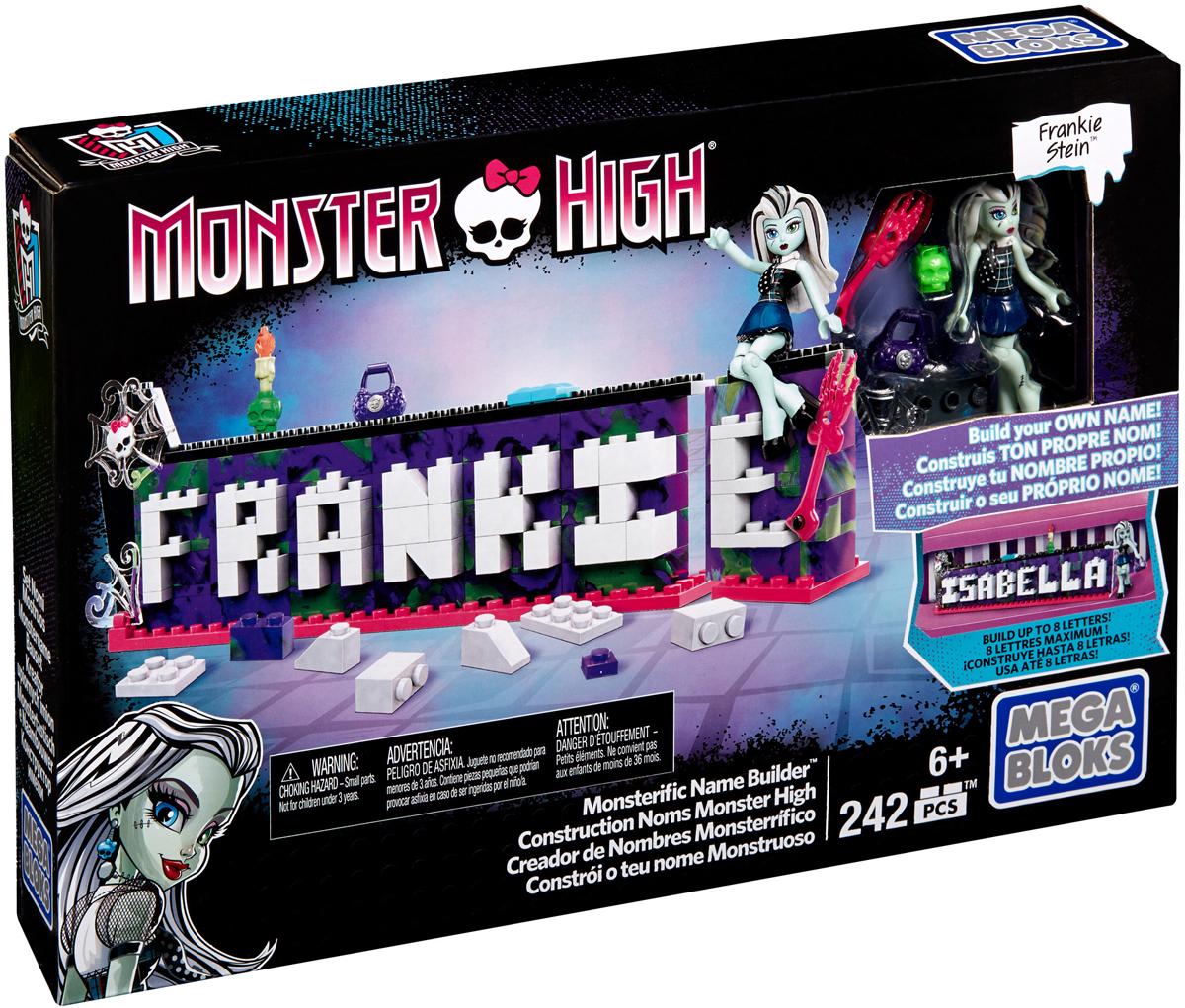 Mega Bloks Monster High Конструктор Табличка для имени Monster HighDRV33Конструктор Mega Bloks: Monster High Табличка для имени Monster High позволит вам оформить свое имя в классном стиле подростков-монстров! Этот необычный набор даст вам возможность создать табличку с именем из не более чем восьми букв, которой вы сможете украсить свою комнату, стол или любое другое место в доме! В набор входит фигурка Фрэнки Штейн, а также невероятно крутые аксессуары, которыми вы можете украсить свою табличку! Соедините сразу несколько табличек, чтобы составить целые фразы или предложения! В набор входят 242 пластиковых элемента. Собирая конструктор, ребенок разовьет внимание, воображение, мелкую моторику рук, пространственное и логическое мышления, а собранная своими руками игрушка будет для него гораздо дороже, чем готовая - ведь он вложил в нее свой драгоценный труд.