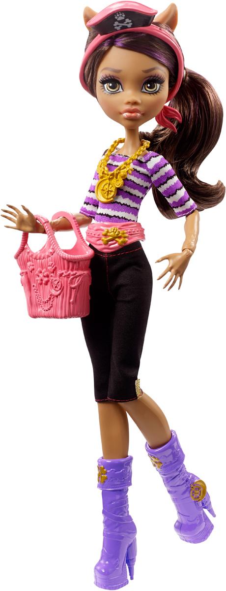 Monster High Кукла Пиратская авантюра DTV82_DTV84DTV82_DTV84Эти куклы Monster High — настоящее сокровище! Выберите куклу Clawdeen Wolf, Catrine DeMew или Gillington «Gil» Weber в модном наряде с морскими аксессуарами и в личном стиле каждого героя. Кукла Catrine DeMew, дочь кошки-оборотня, щеголяет в мурр-ском берете; кукла Clawdeen Wolf, дочь волка-оборотня, носит фиолетовые сапоги с пиратскими мотивами, а у куклы Gillington «Gil» Weber, сына речного монстра, на маске — пиратская повязка. К каждой кукле прилагается сумка для морских находок. В набор входит кукла Monster High в модном наряде с аксессуарами и сумкой. Продаются отдельно при наличии. Куклам требуются подставки. Цвета и украшения могут отличаться.
