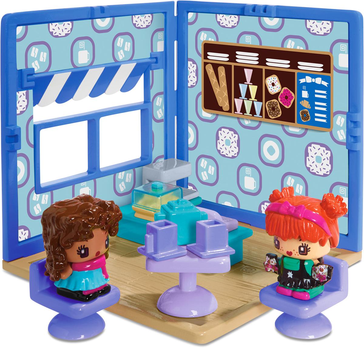 My Mini MixieQs Игровой набор Мини-комната КафеDWB60_DWB61Игровой набор My Mini MixieQs Мини-комната. Кафе непременно приведет в восторг вашу малышку. Эта маленькая тематическая комната идеально подойдет для игры с фигурками MixieQs. В кафе имеется окошко с подвижной занавеской. Стол, стулья и аксессуары из набора можно расставлять по своему усмотрению. У фигурок можно менять одежду и прически. В комплекте две фигурки девочек с одеждой и прическами и одна секретная фигурка. Игровой набор Мини-комната. Кафе совместим с другими наборами My Mini MixieQs.