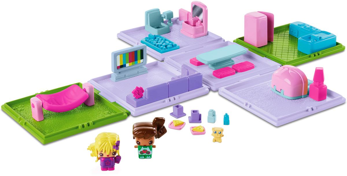 My Mini Mixiqes Игровой набор КвартираDWB65_DWB66Игровой набор My Mini Mixiqes Квартира непременно приведет в восторг вашу малышку. Этот портативный набор легко брать с собой, открывая его, когда хочется поиграть. Набор состоит из нескольких отдельных комнат с мебелью и фигурок Mixiqes. У мебели имеются подвижные части: открывается дверь холодильника, гамак качается. У фигурок можно менять одежду и прически. В комплекте две фигурки девочек с одеждой и прическами и одна секретная фигурка. Игровой набор Квартира совместим с другими наборами My Mini Mixiqes.