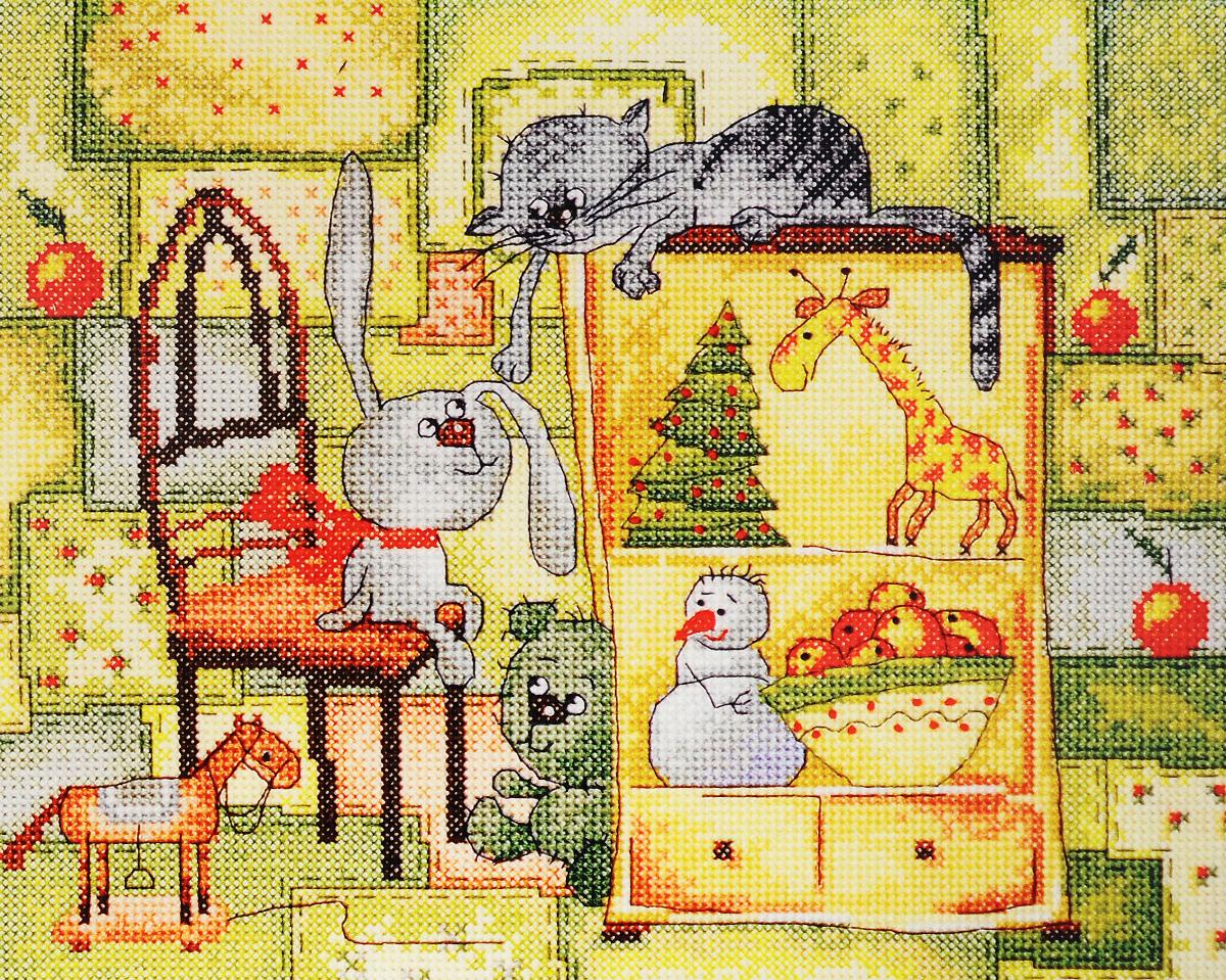 Набор для вышивания крестом Марья Искусница Рождественское одеяло, 25 х 20 см15.001.18Набор для вышивания крестом Марья Искусница Рождественское одеяло поможет создать красивую вышитую картину. Рисунок-вышивка, выполненный на канве, выглядит стильно и модно. Вышивание отвлечет вас от повседневных забот и превратится в увлекательное занятие! Работа, сделанная своими руками, не только украсит интерьер дома, придав ему уют и оригинальность, но и будет отличным подарком для друзей и близких! Набор содержит все необходимые материалы для вышивки на канве в технике счетный крест. В набор входят: - канва Aida 14 Zweigart (белого цвета), - нитки мулине Finca - хлопок (27 цветов), - черно-белая символьная схема, - инструкция на русском языке, - игла Hemline.