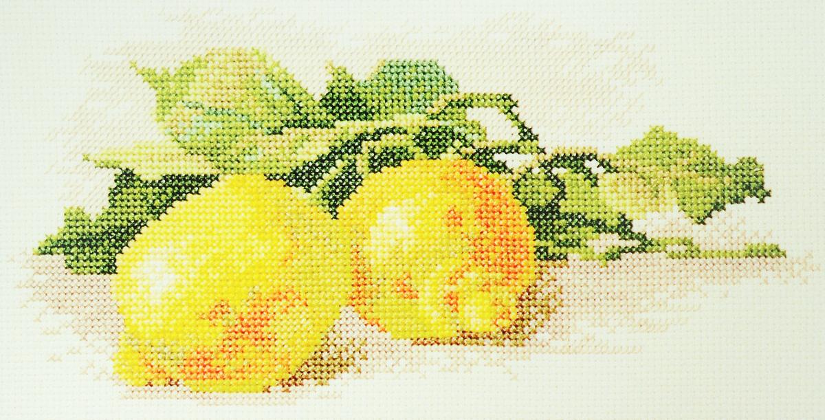 Набор для вышивания крестом Марья Искусница Ветка с лимонами, 25 х 18 см04.009.06Набор для вышивания крестом Марья Искусница Ветка с лимонами поможет создать красивую вышитую картину по рисунку Катарины Кляйн. Рисунок-вышивка, выполненный на канве, выглядит стильно и модно. Вышивание отвлечет вас от повседневных забот и превратится в увлекательное занятие! Работа, сделанная своими руками, не только украсит интерьер дома, придав ему уют и оригинальность, но и будет отличным подарком для друзей и близких! Набор содержит все необходимые материалы для вышивки на канве в технике счетный крест. В набор входит: - канва Aida 14 Zweigart (молочного цвета), - нитки мулине Finca - хлопок (27 цветов), - черно-белая символьная схема, - инструкция на русском языке, - игла Hemline.