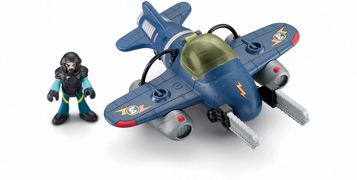 Imaginext Самолет ТорнадоT5308_T5310Навстречу приключениям! Самолет Imaginext Торнадо имеет вращающийся хвост, убирающееся шасси и откидывающееся стекло кабины. В кабину можно посадить пилота. Кроме того, самолет оснащен двумя огромными бензопилами, которые складываются вдоль фюзеляжа. В комплекте с самолетом идет фигурка пилота. Голова, руки и ноги фигурки пилота подвижны. Подарите вашему ребенку такую замечательную игрушку.