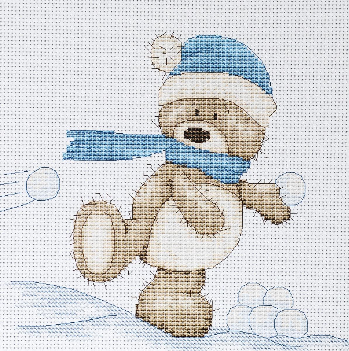 Набор для вышивания крестом Luca-S Медвежонок Бруно, 16 х 14 смB1003Набор для вышивания крестом Luca-S Медвежонок Бруно поможет создать красивую вышитую картину. Рисунок-вышивка, выполненный на канве, выглядит стильно и модно. Вышивание отвлечет вас от повседневных забот и превратится в увлекательное занятие! Работа, сделанная своими руками, не только украсит интерьер дома, придав ему уют и оригинальность, но и будет отличным подарком для друзей и близких! Набор содержит все необходимые материалы для вышивки на канве в технике счетный крест. В набор входит: - канва Aida 16 Zweigart (белого цвета), - нитки мулине Anchor - 100% мерсеризованный хлопок (15 цветов), - черно-белая символьная схема, - инструкция на русском языке, - игла.
