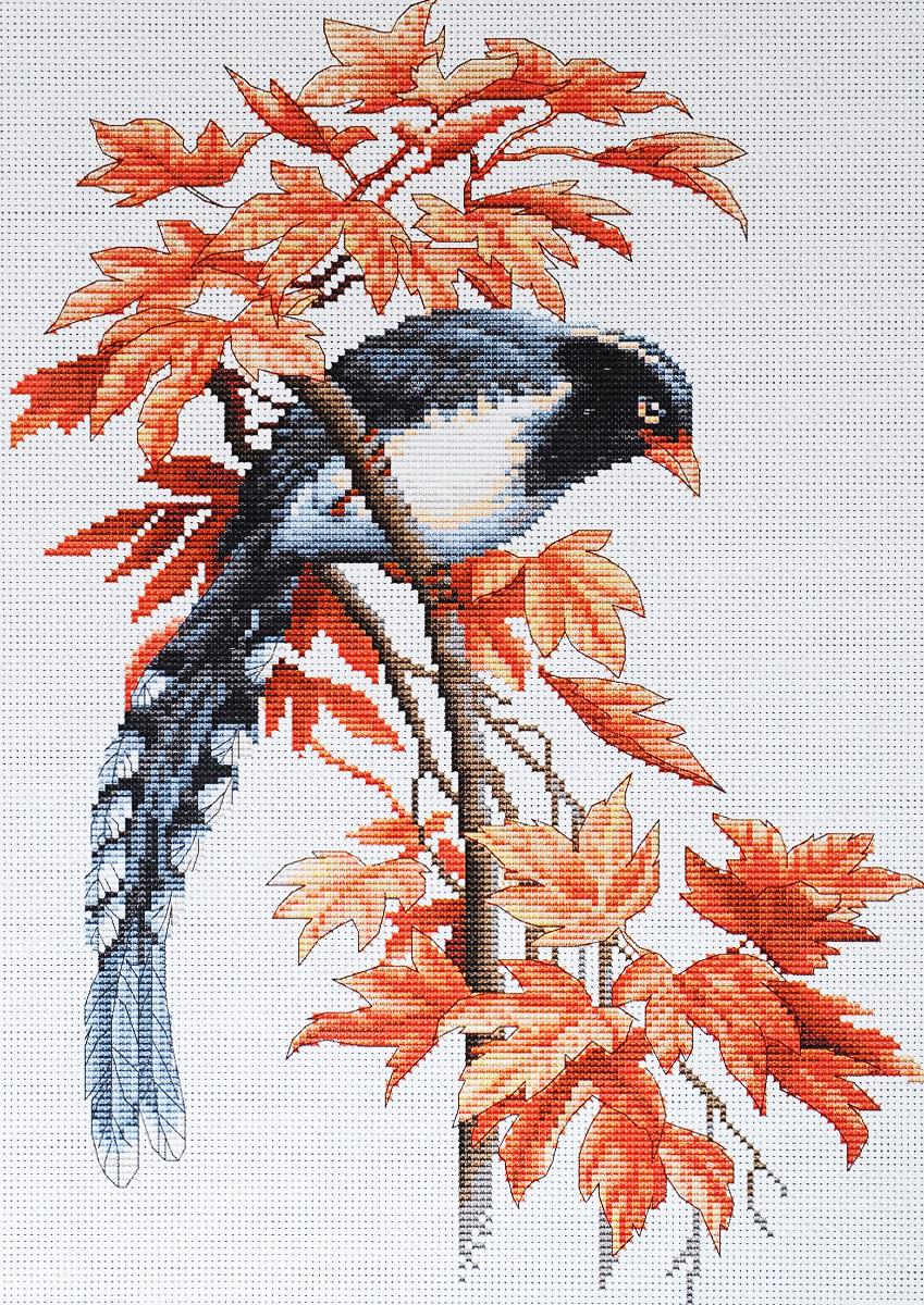 Набор для вышивания крестом Luca-S Птичка, 19,5 х 28 смB293Набор для вышивания крестом Luca-S Птичка поможет создать красивую вышитую картину. Рисунок-вышивка, выполненный на канве, выглядит стильно и модно. Вышивание отвлечет вас от повседневных забот и превратится в увлекательное занятие! Работа, сделанная своими руками, не только украсит интерьер дома, придав ему уют и оригинальность, но и будет отличным подарком для друзей и близких! Набор содержит все необходимые материалы для вышивки на канве в технике счетный крест. В набор входит: - канва Aida 18 Zweigart (белого цвета), - нитки мулине Anchor - 100% мерсеризованный хлопок (27 цветов), - черно-белая символьная схема, - инструкция на русском языке, - игла.