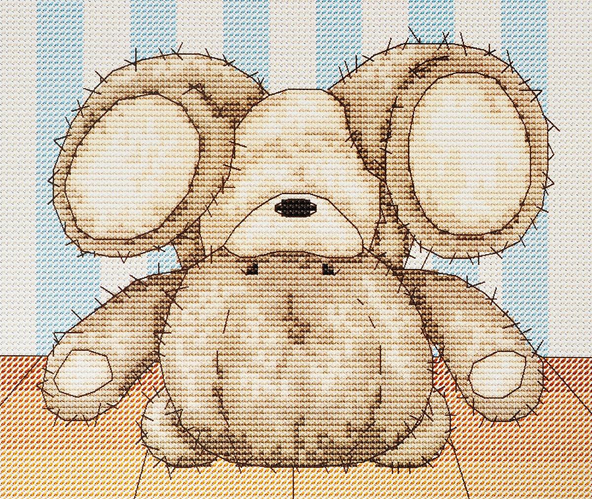 Набор для вышивания крестом Luca-S Медвежонок Бруно, 17,5 х 14,5 смB1084Набор для вышивания крестом Luca-S Медвежонок Бруно поможет создать красивую вышитую картину. Рисунок-вышивка, выполненный на канве, выглядит стильно и модно. Вышивание отвлечет вас от повседневных забот и превратится в увлекательное занятие! Работа, сделанная своими руками, не только украсит интерьер дома, придав ему уют и оригинальность, но и будет отличным подарком для друзей и близких! Набор содержит все необходимые материалы для вышивки на канве в технике счетный крест. В набор входит: - канва Aida 16 Zweigart (белого цвета), - нитки мулине Anchor - 100% мерсеризованный хлопок (13 цветов), - черно-белая символьная схема, - инструкция на русском языке, - игла.